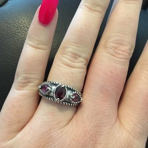 Carolyn Pollack Possibilities garnet band ring